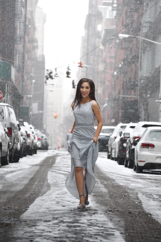 Actress and Lifestyle blogger Jennifer Leigh Coren featuring an  ASOS dress