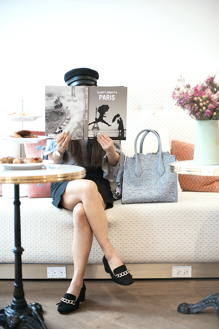 Grace Lee of  Gracefuleemade  posing for a shoot with  Henri Bendel