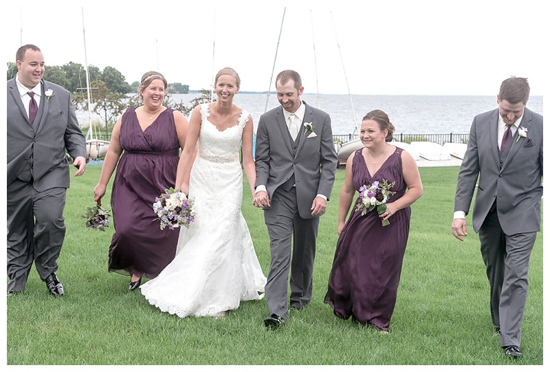 Andi Stempniak Photography,Fall wedding ideas,Oshkosh,The Waters,WI,WI wedding photographer,Wausau,Wisconsin wedding photography,married on the water,purple bridesmaid dresses,