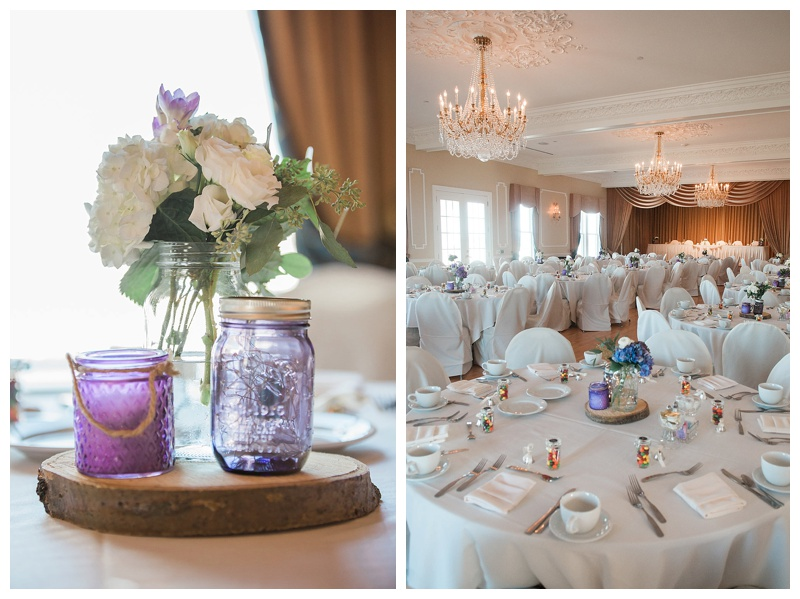 """The Waters wedding Oshkosh, WI"" ""Wedding wooden centerpiece"" ""purple decor"" ""wedding favors"""