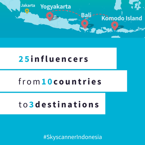 Skyscanner invited international travel influencers to Indonesia.