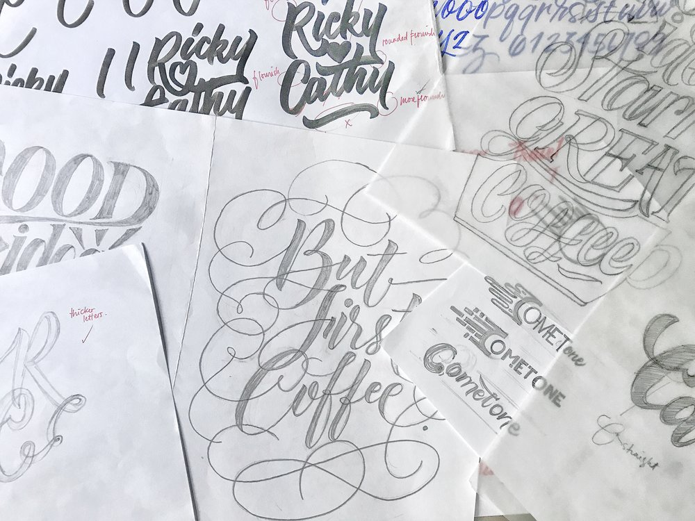Hand-Lettering - with SC