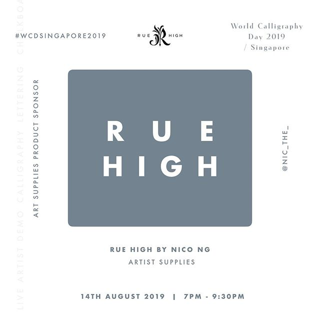 """Shoutout to our Art Supplies Product Sponsor for #WCDSingapore2019 —Rue High by Nico Ng (@nic_the_)  Rue High is an artist stationery brand founded by lettering artist Nico Ng. With lettering in mind, Nico has created a range of products which are aimed to help lettering artists, budding and seasoned alike, create their layout and composition easily.  Nico has kindly offered his highly sought-after 5"""" composition ruler and 3"""" ccomposition rulers for both the activity table and lucky dip! Thanks Nico! ✨"""