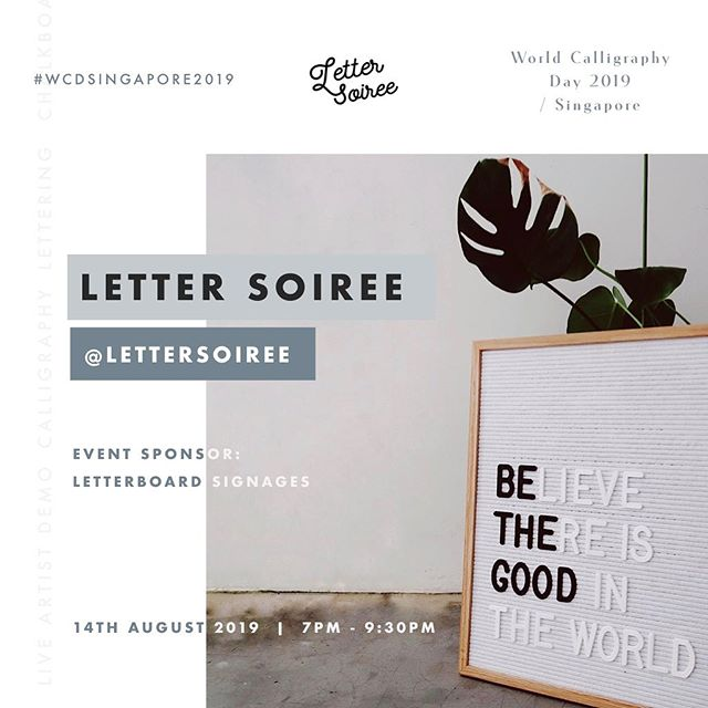 Shoutout to our #WCDSINGAPORE2019 Event Sponsor, Letter Soiree (@lettersoiree)  Letter Soiree is a lifestyle brand from sunny Singapore, best known for their high quality letterboards. The team at Letter Soiree also curates premium products which would definitely fit well in your homes and at each special occasion.  You will get to see our event tables adorned by these lovely letterboards that @lettersoiree will be providing!