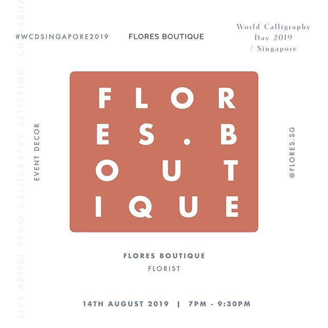Shoutout to our #WCDSINGAPORE2019 Event Sponsor for our Event Decor Centerpieces, Flores Boutique (@flores.sg)  Flores Boutique is a Singapore-based florist which provides bespoke floral design services for individuals, events, and special occasions.  Our activity tables will be looking so ✨ with the centerpieces around!!