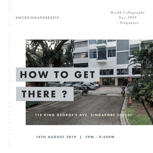Attending World Calligraphy Day 2019 // Singapore? Scroll right on this post to find out how to get to the event location! #wcdsingapore2019