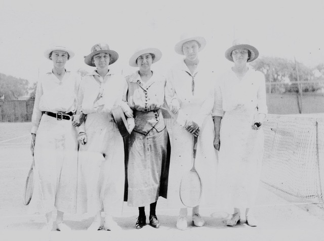 Granny and Aunt Helen, a Titanic survivor, playing tennis with friends