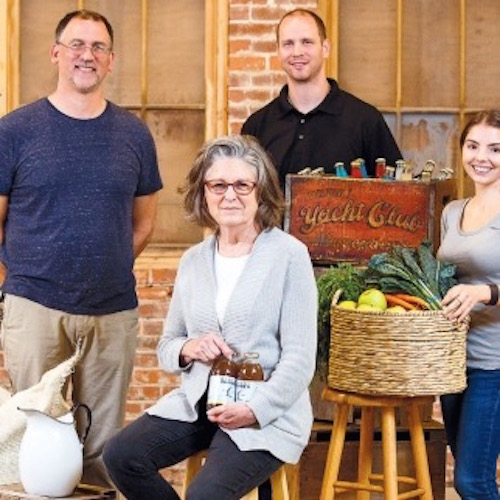 Robin Squibb, founder of Granny Squibb's Organic Iced Tea, featured in Edible Rhody