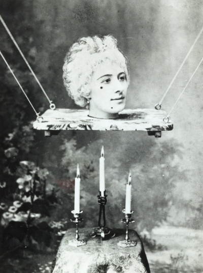 Production still featuring Jehanne d'Alcy, actress and wife of Georges Méliès in his film   La source enchantée  , circa 1890. Courtesy of the artist's archive.