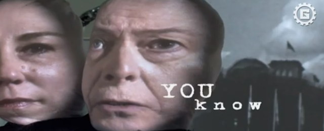 Still from Tony Oursler's music video (Screenshot by Hyperallergic)