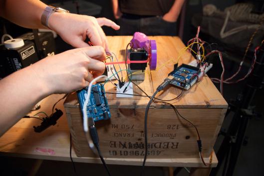 A set of robotics undergoing testing for the film.Photo: Sarah Trig