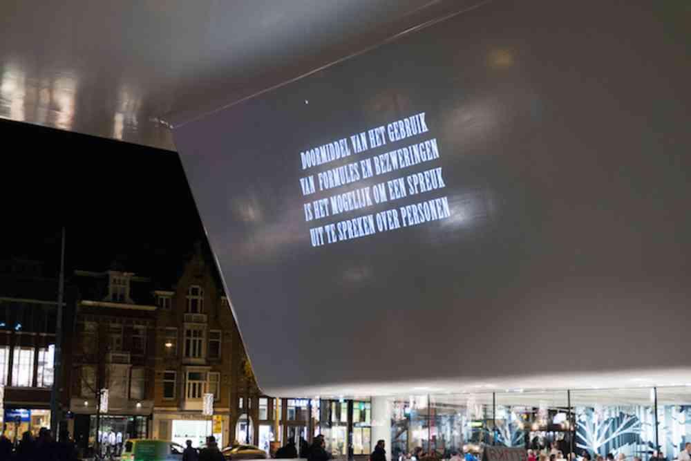 X Ergo Y, Tony Oursler, Stedelijk Museum. Photo by Fabian Landewee