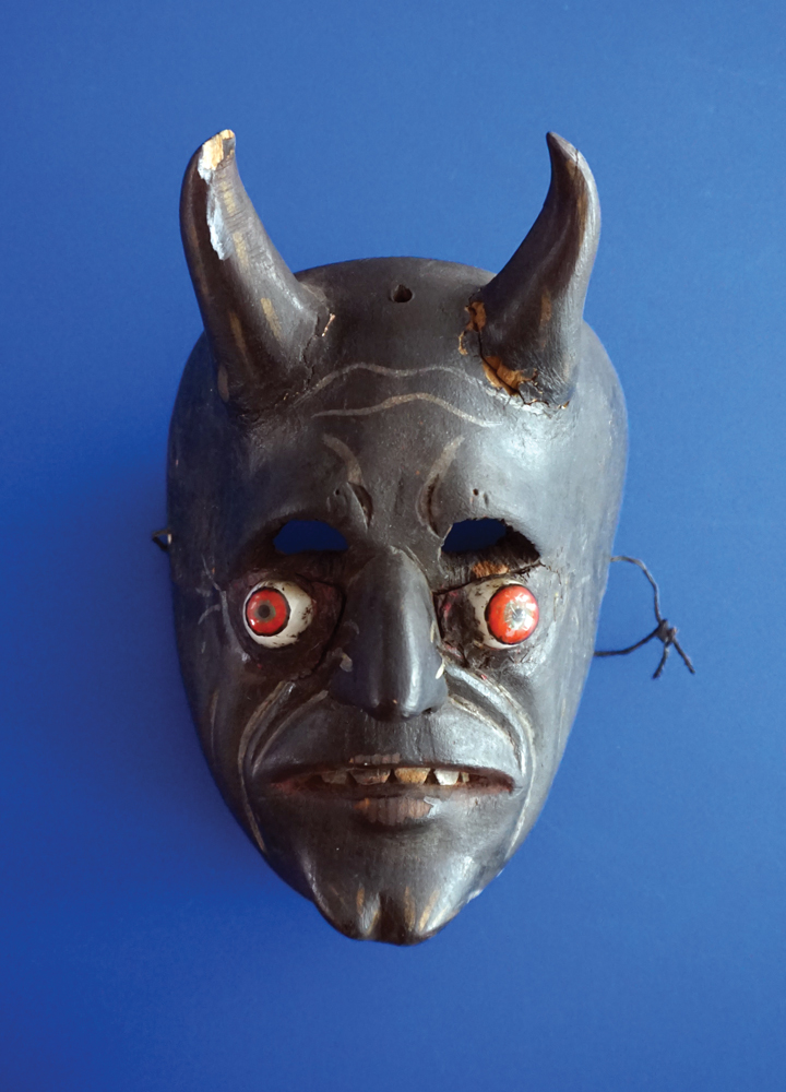 """""""This guy is crazy,"""" Oursler said of this modified mask."""