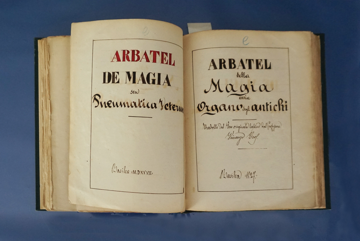 Just one in a series of Italian spell books.