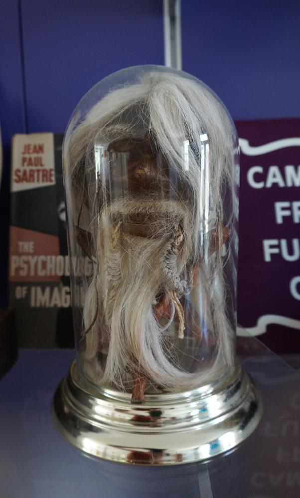 A fake shrunken head.