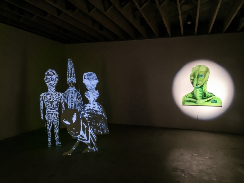 Tony Oursler, Unidentified (Installation view). Image courtesy of the artist and Redling Fine Art.