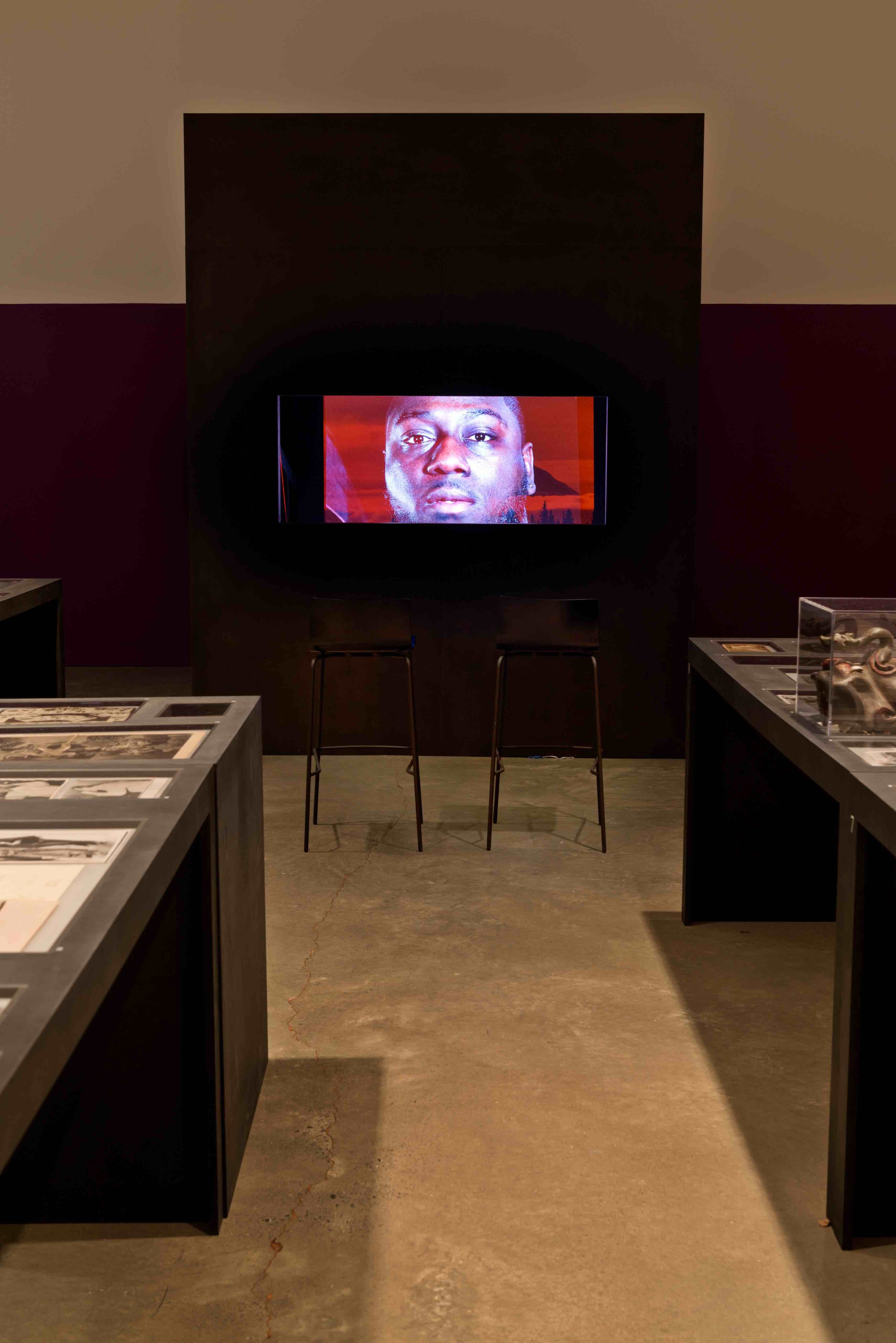 Installation View - Le Volcan film