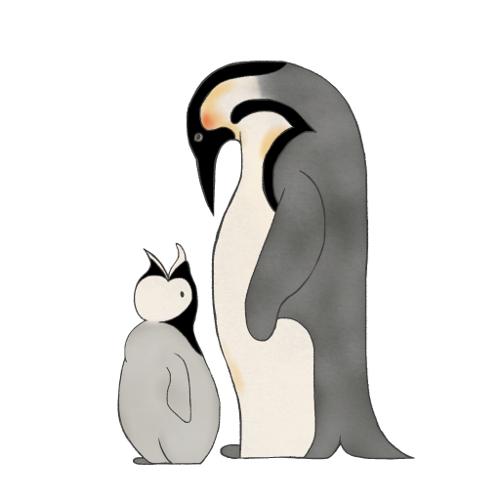emperor penguin mama & baby