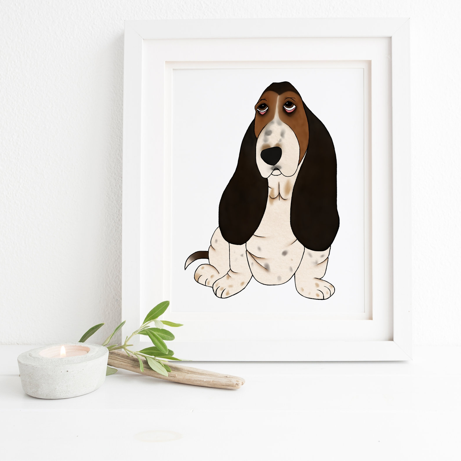 I ordered a custom print of my dog for our first baby's nursery. Bri was super helpful and wonderful to work with. She ended up giving us the perfect print that captured the personality of our pup and will be a wonderful addition to the nursery! - Lauren Berzins [from etsy]