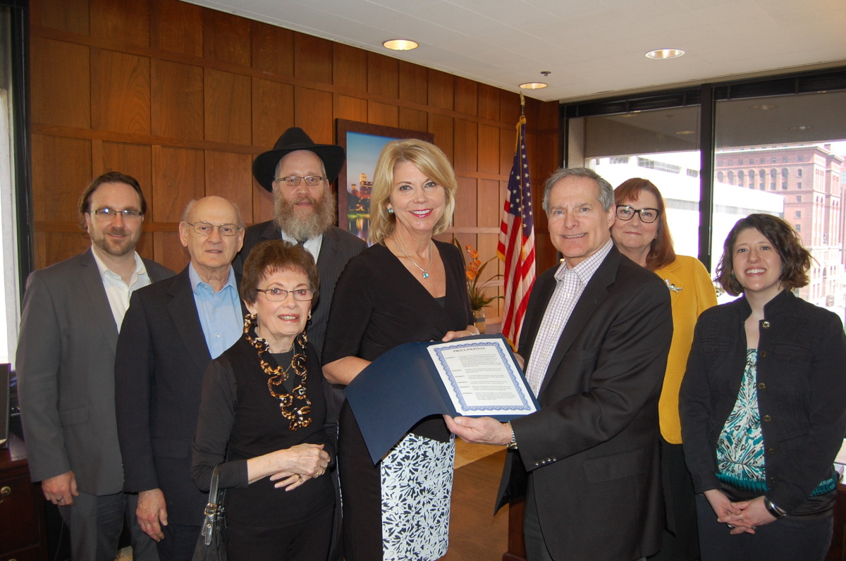 Holocaust Remembrance Proclamation in the Mayor's Office