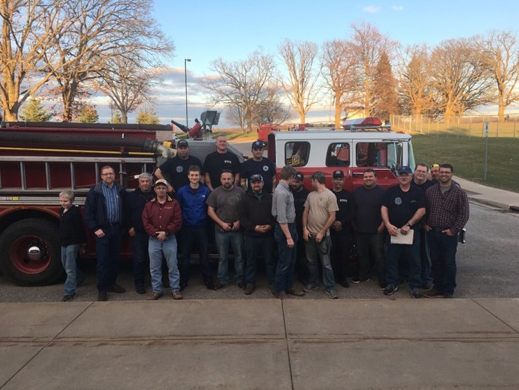 Richland Township Fire Department tours Vestaburg Community Schools
