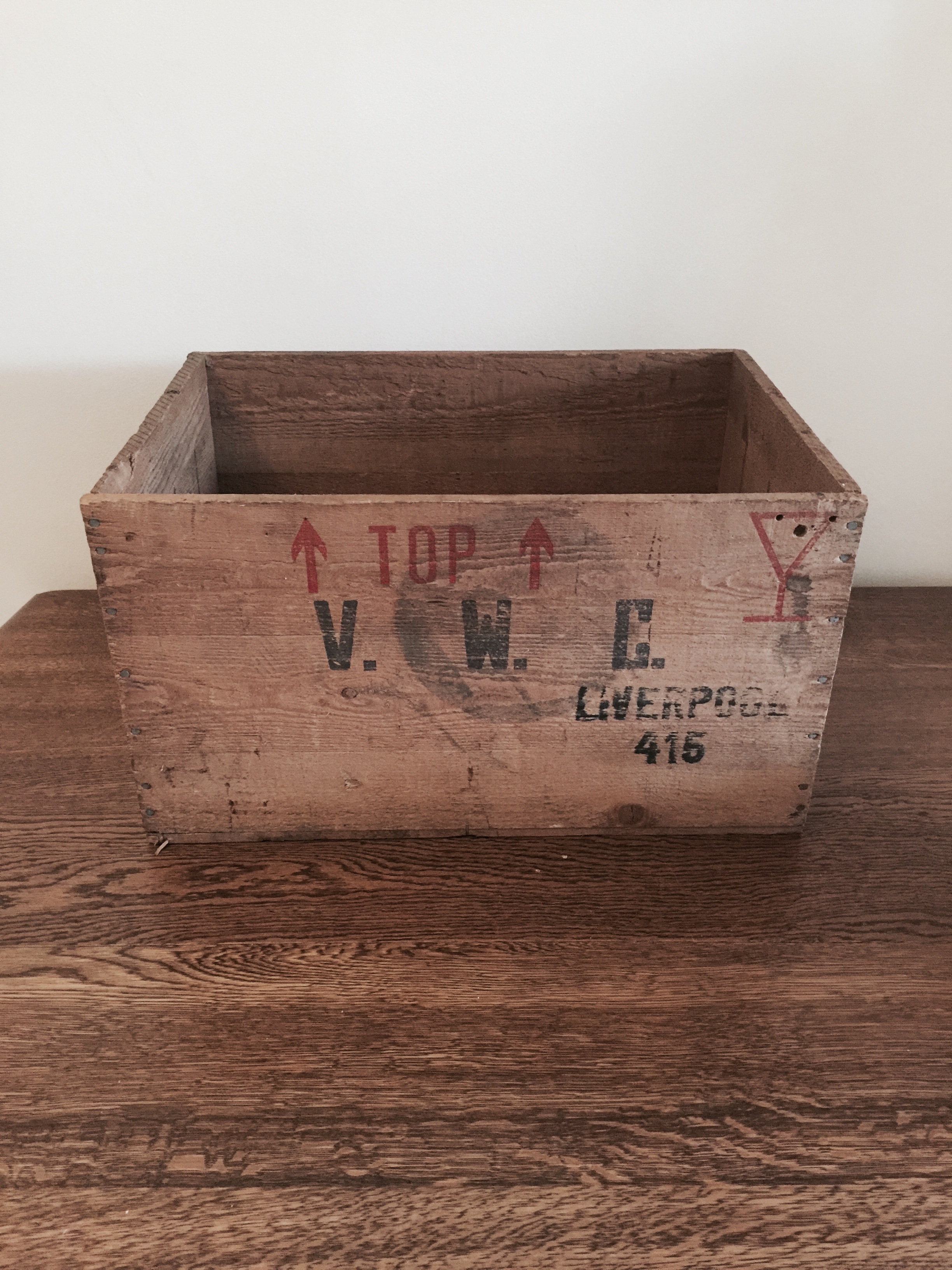Large vintage crate £10 to hire
