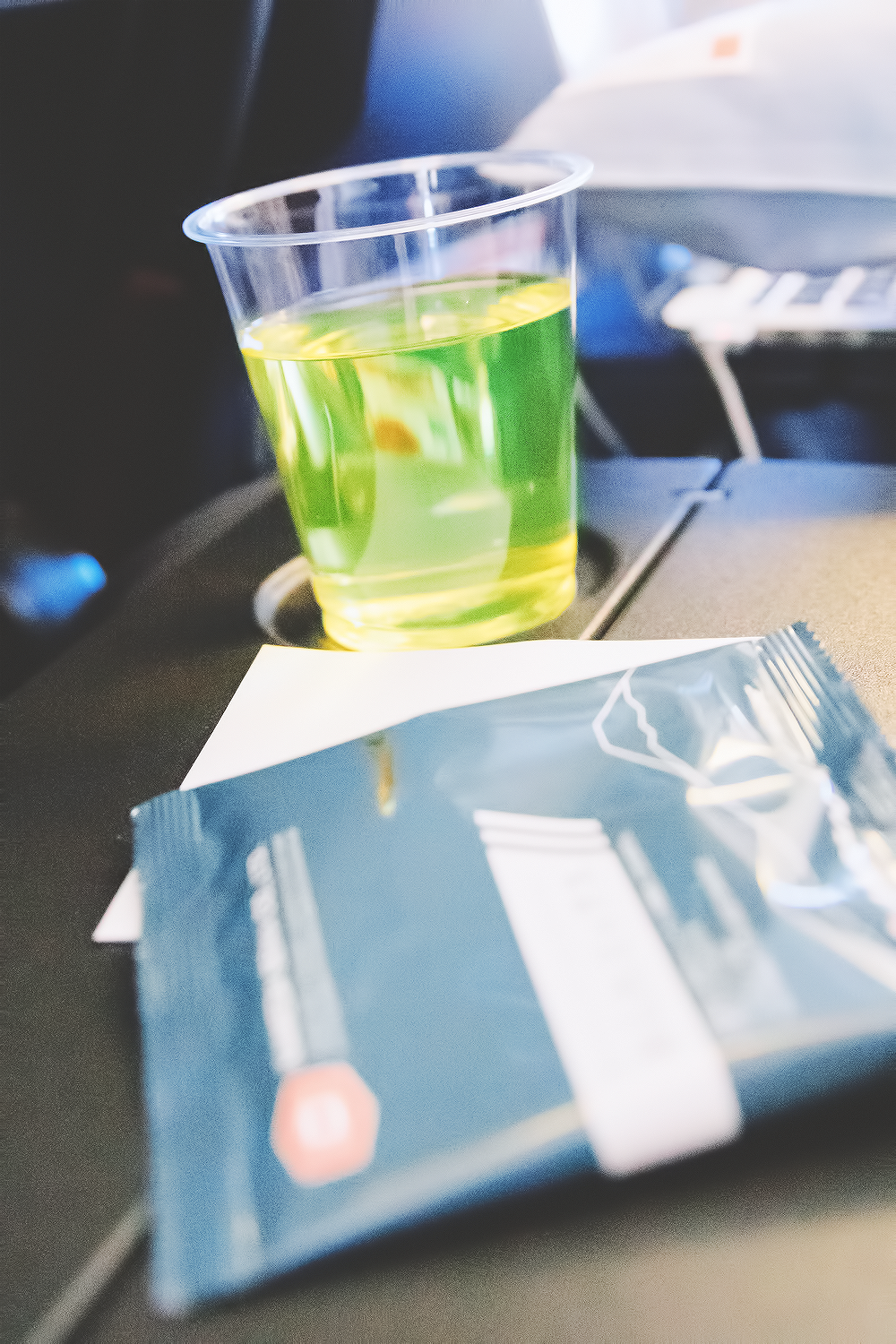 JAL has a delicious kiwi juice called Sky Time that I highly recommend. They also gave us rice snacks to start. Side note: all of our flight attendants were so sweet and patient throughout our flight. They even had a basket of snacks in the back that we could pick from at any time.