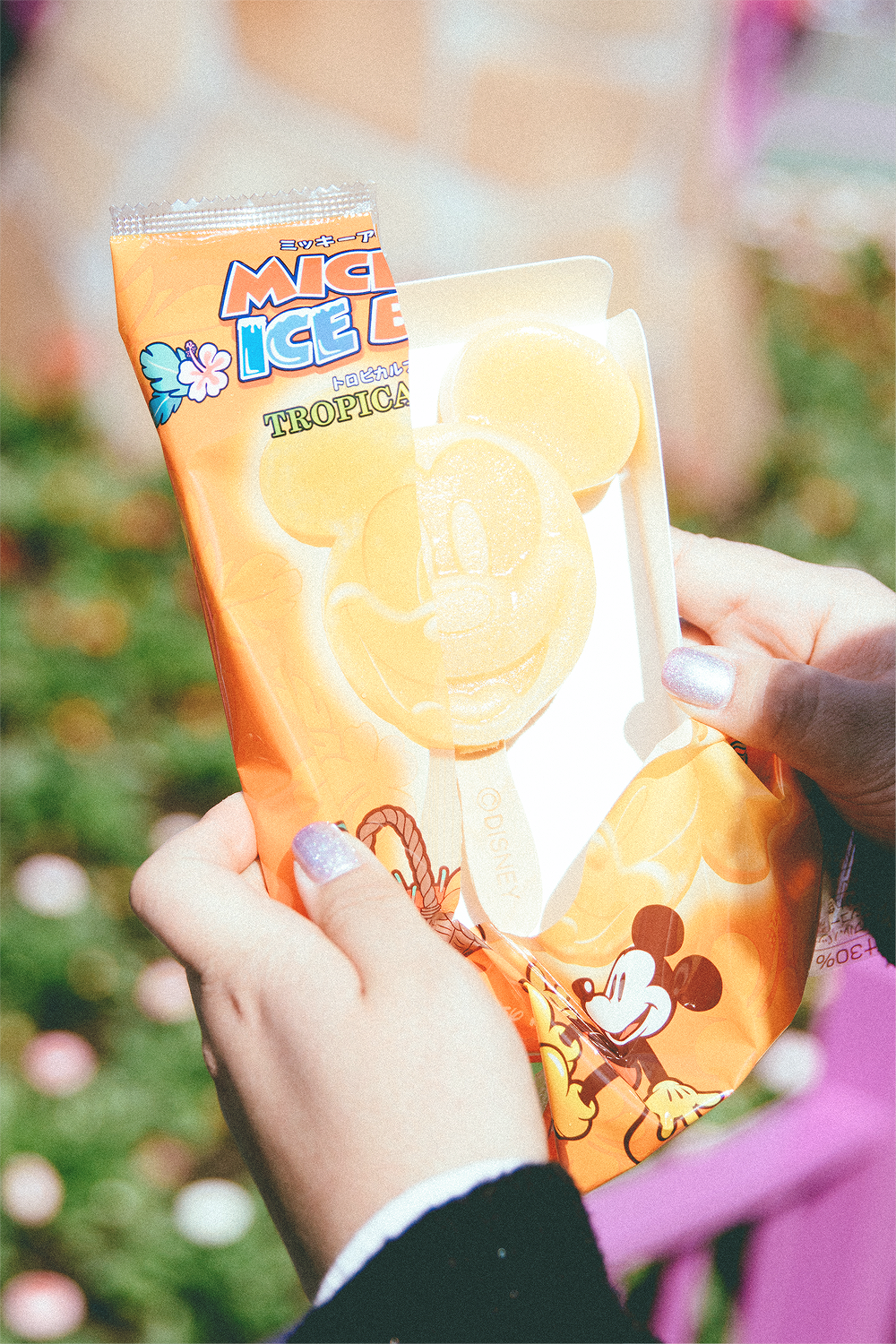 The warm weather finally permitted for some delicious ice cream! I love these Mickey Ice Bars because they're so full of intense fruit flavor and they're ridiculously cute! Jane ate Mickey in Tropical Fruit.