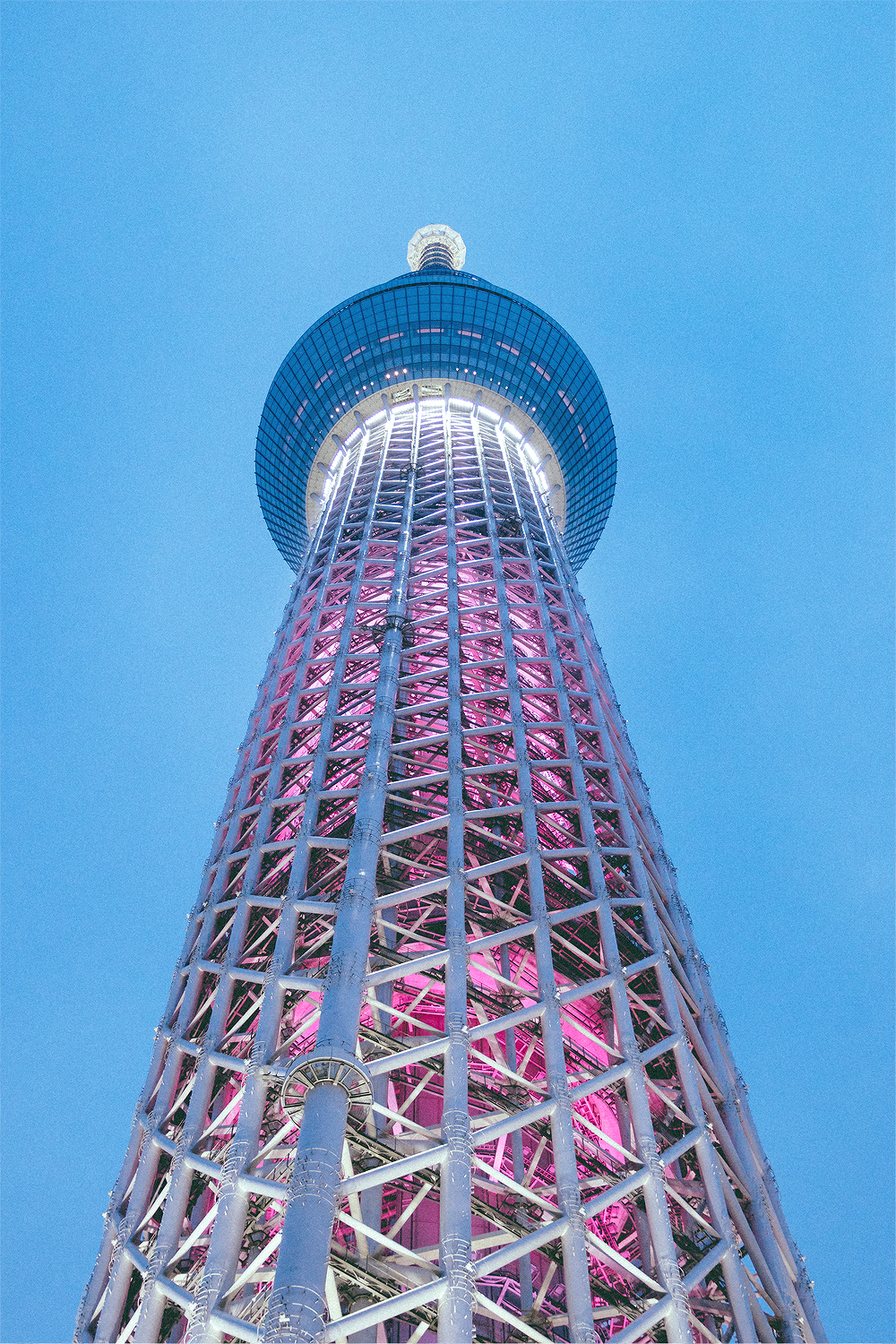 By the time we finished our tour, the SkyTree was illuminated.