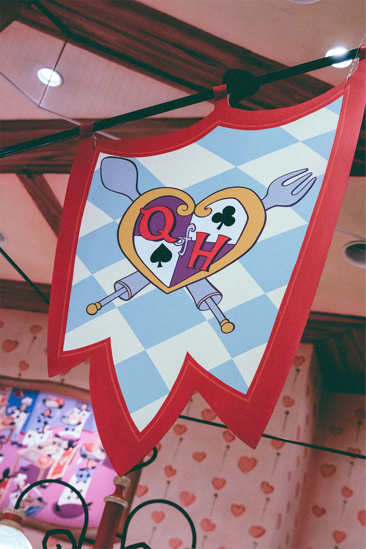 Speaking of royalty (and food), we headed over to Fantasyland for lunch at the Queen of Hearts Banquet Hall.