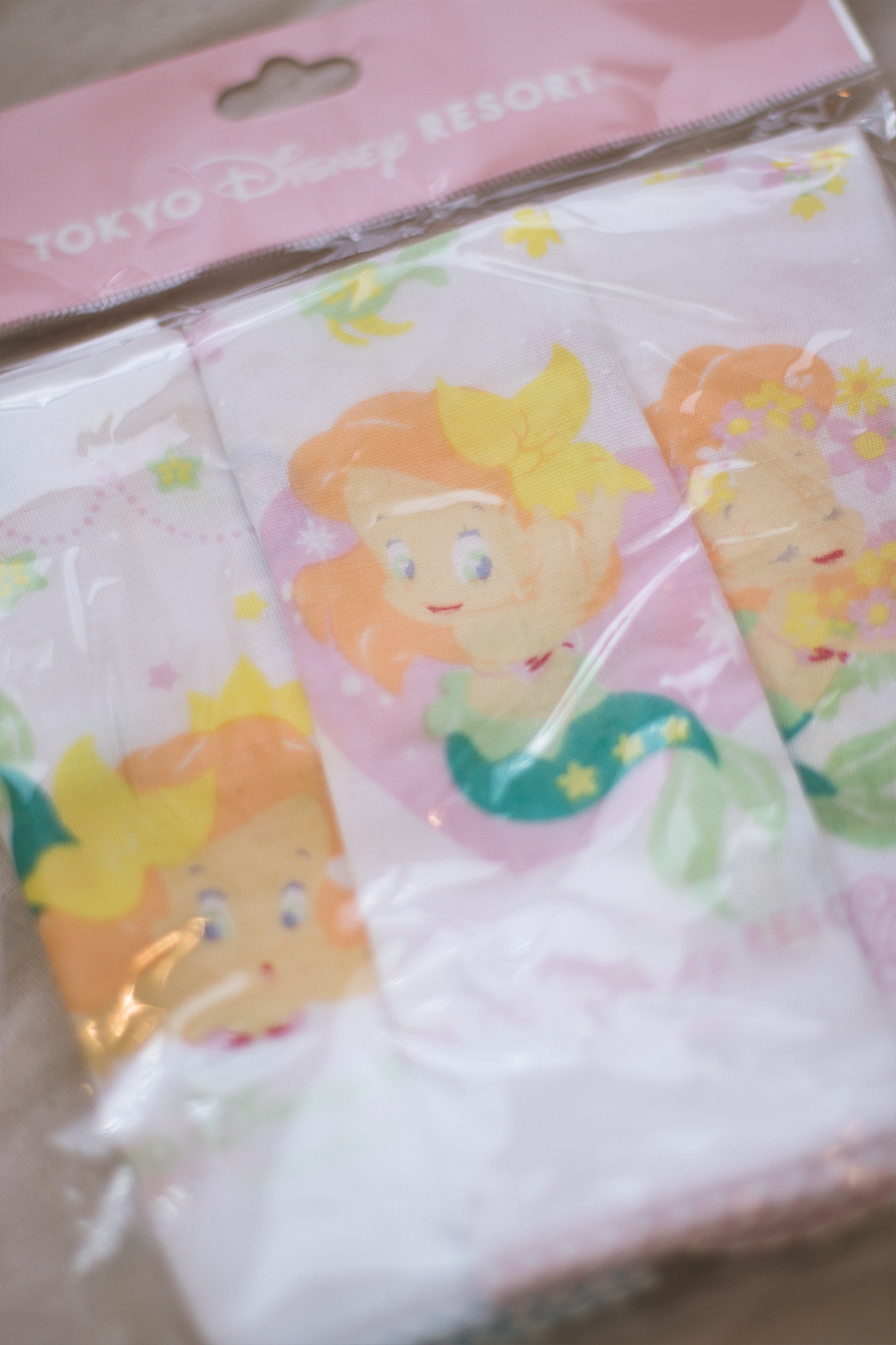 Here's the cute baby Ariel handkerchief I picked up.