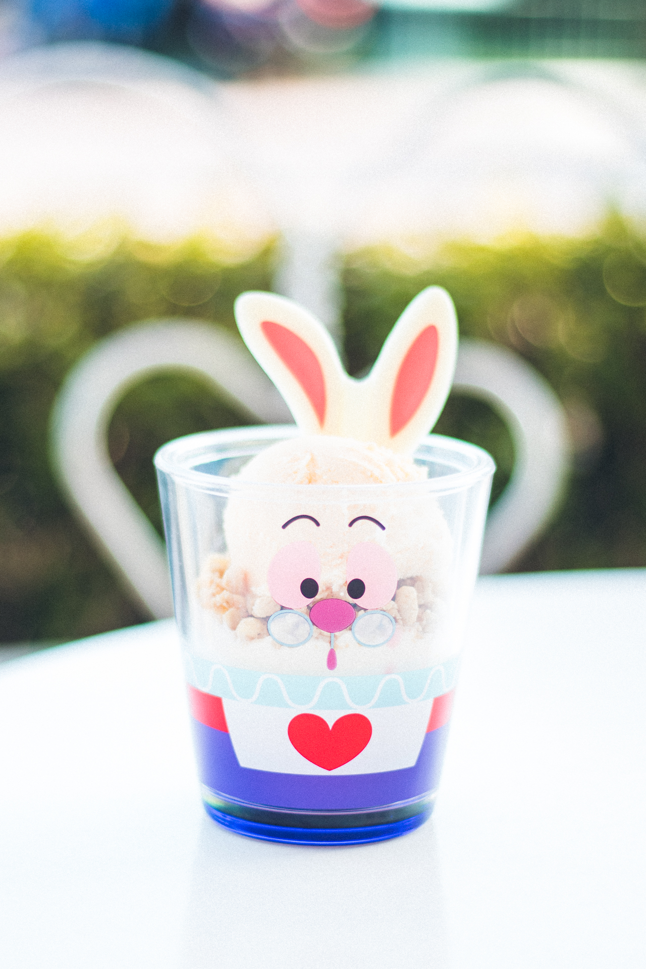 White Rabbit Easter Parfait from Sweet Heart Cafe  (¥860)  Although this is a seasonal treat, parfaits from Sweet Heart Cafe are pretty common. I loved this souvenir plastic cup that was included, which made it worth almost $8.