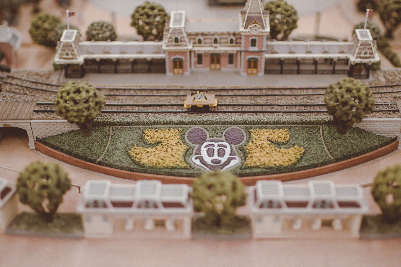 I really admired the miniature Disneyland model they had on display that was heavily guarded by That's from Disneyland staff.