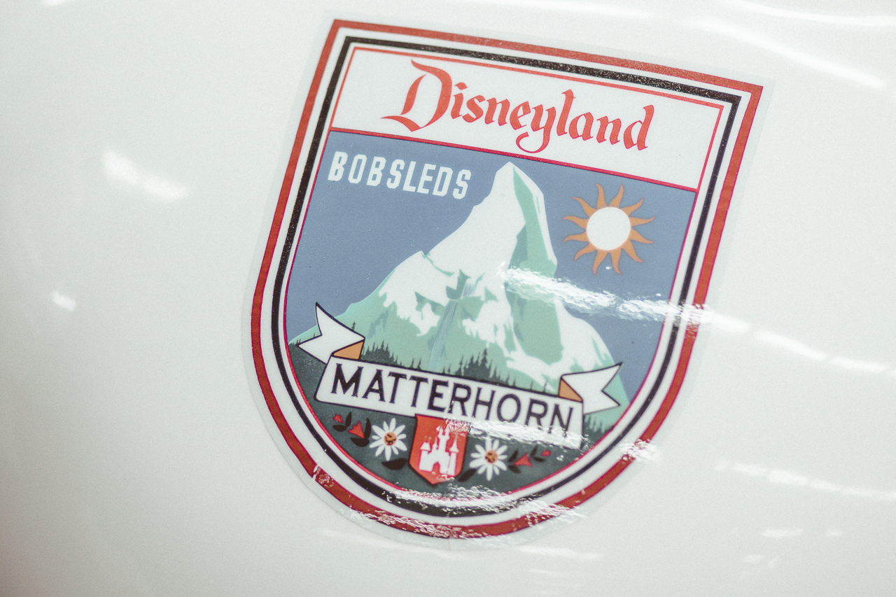 This emblem from the original 1959 Matterhorn Bobsleds is the essential Disneyland for me.