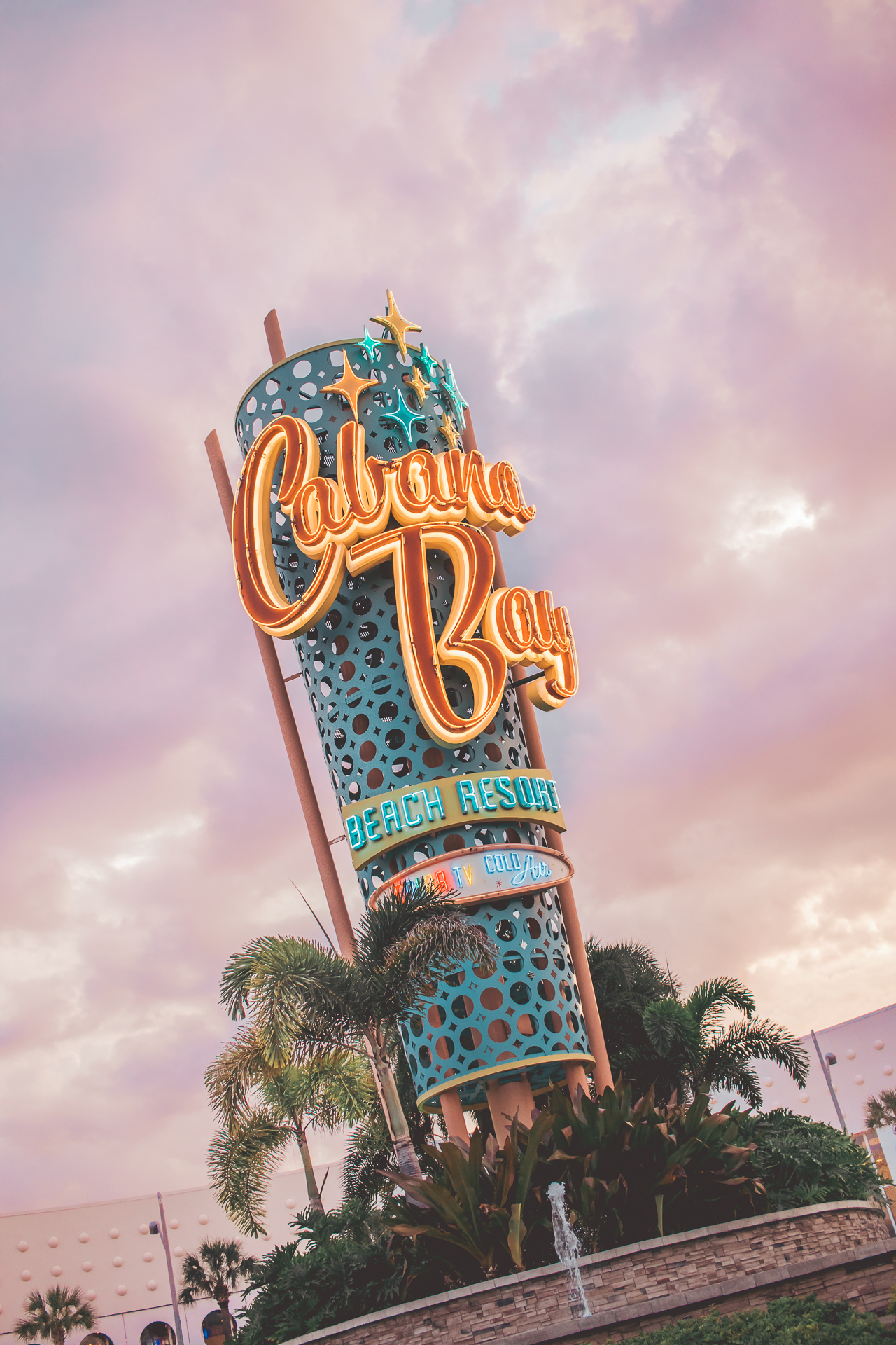 """With """"color tv"""" and """"cool air""""  Universal's  Cabana Bay  Beach Resort  is a mid-century modern fanatic's dream! I was absolutely smitten with Cabana Bay from the moment we checked in."""