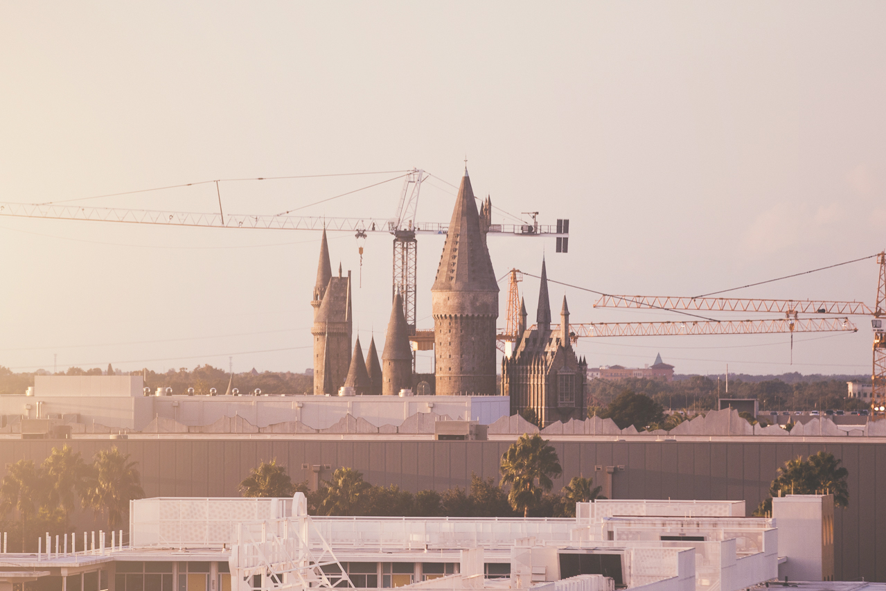 Hogwarts was just outside our window.