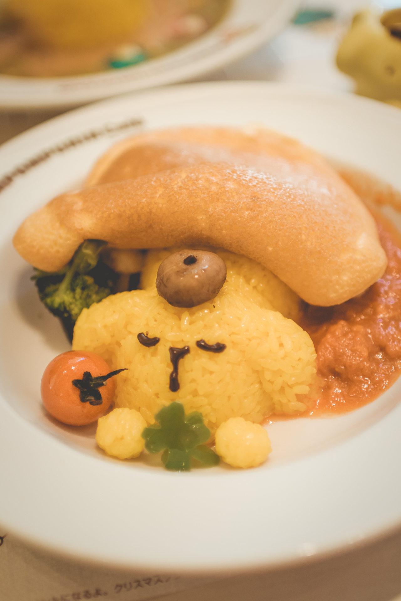 My dish: a fluffy omurice complete with mushroom beret. I honestly haven't stopped thinking about this since.
