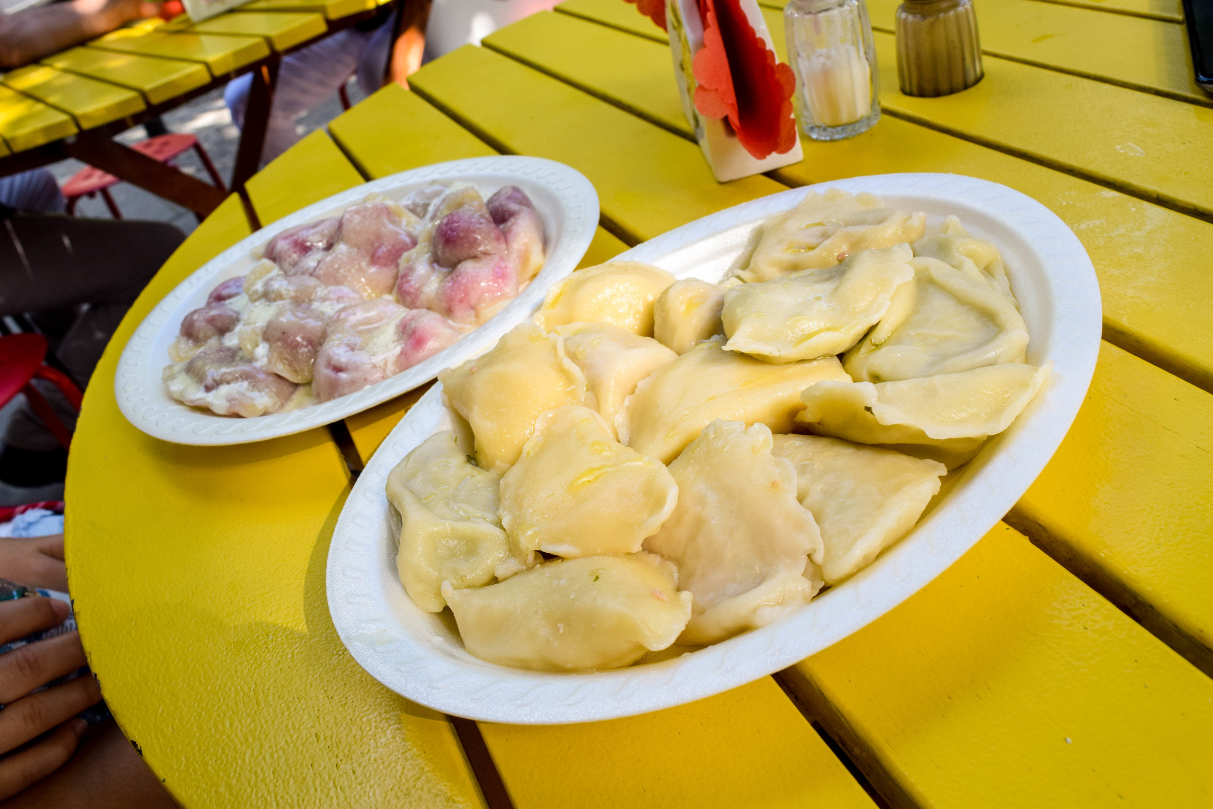 They aren't the most photogenic, but these pierogis at Przystanek Pierogarnia might be the best we had in Poland!