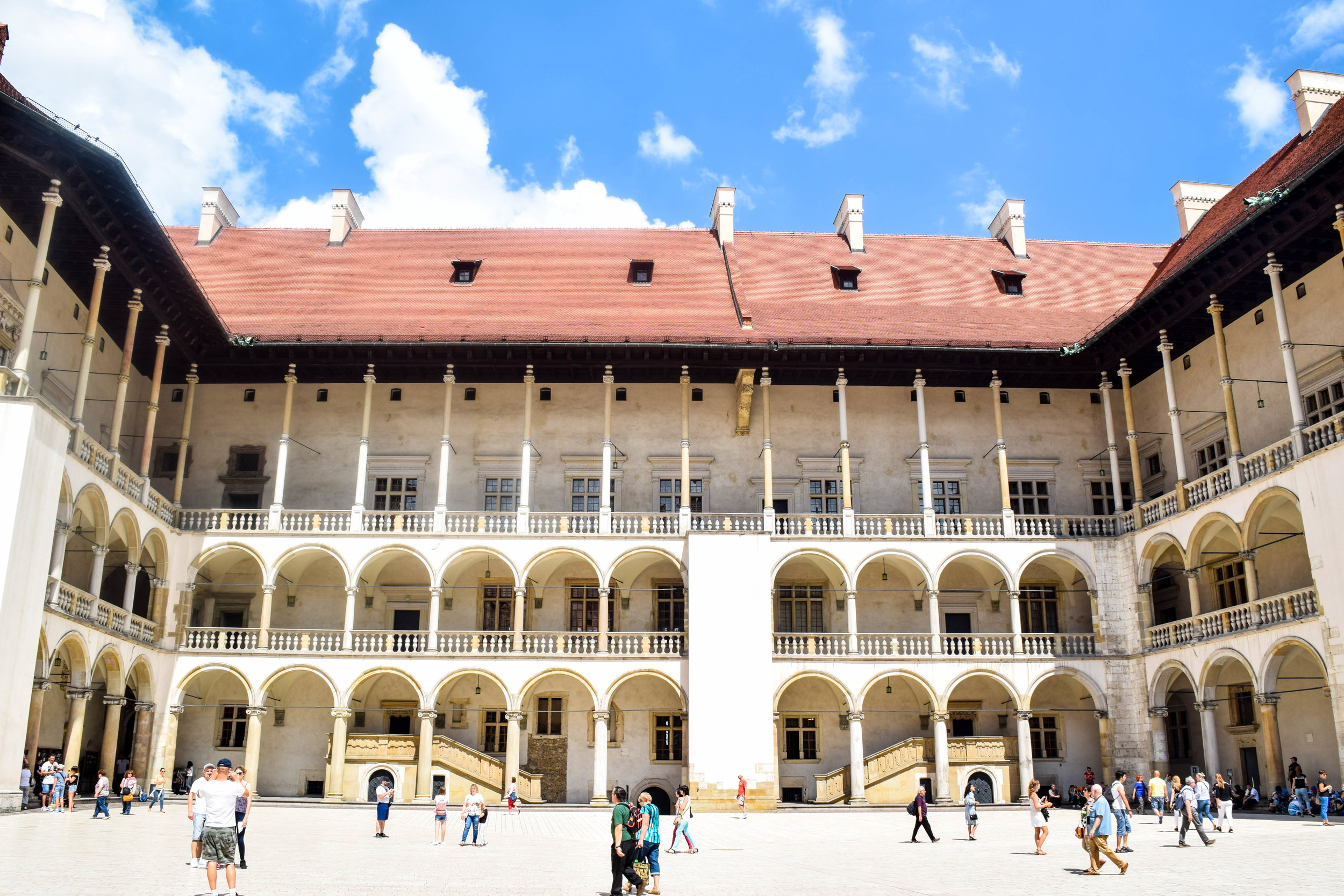 The architecture in Krakow has so many different influences, this building inside Wawel Castle makes you feel like you're in an Italian Renaissance palace