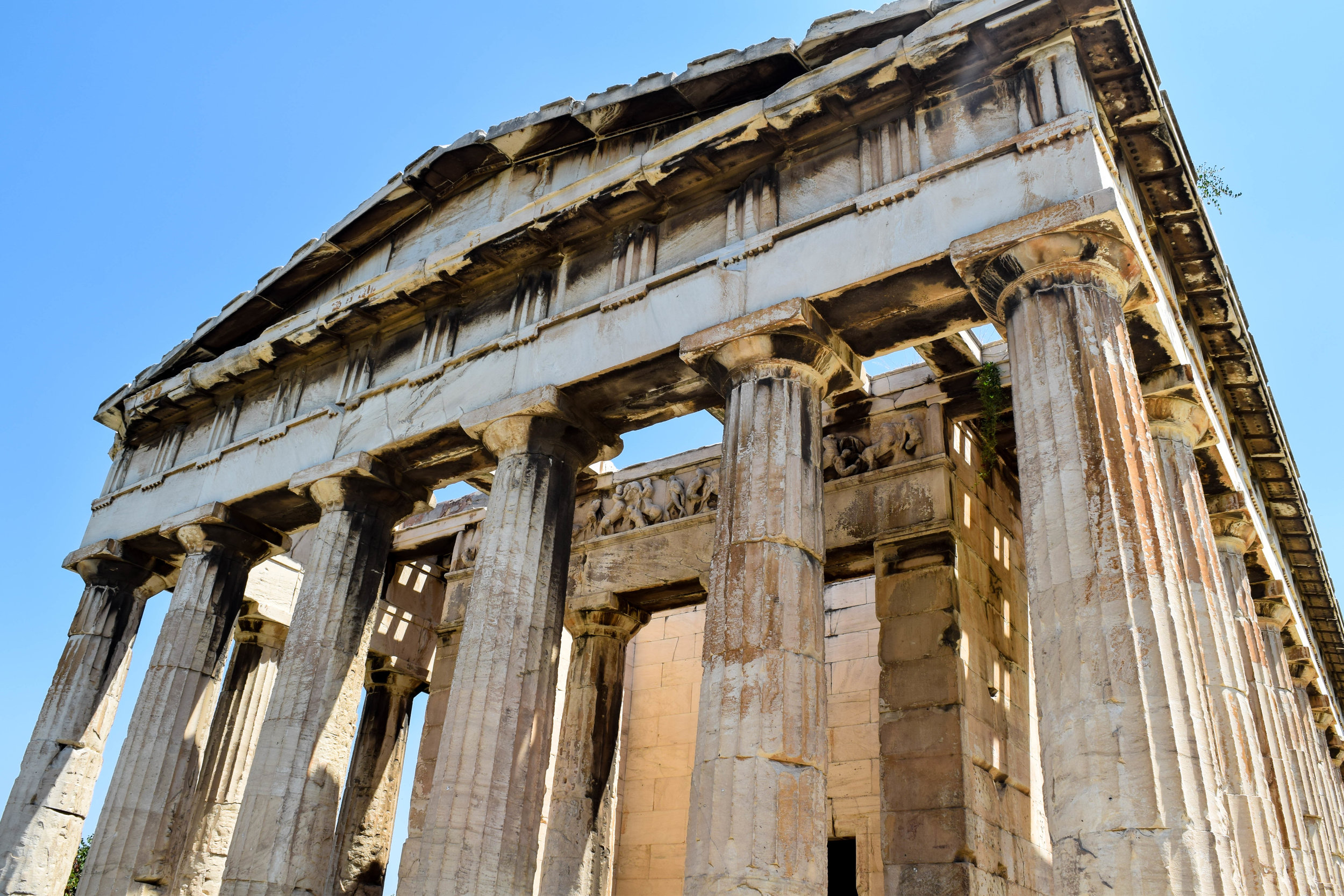 The Temple of Hephaestus at the Ancient Agora.