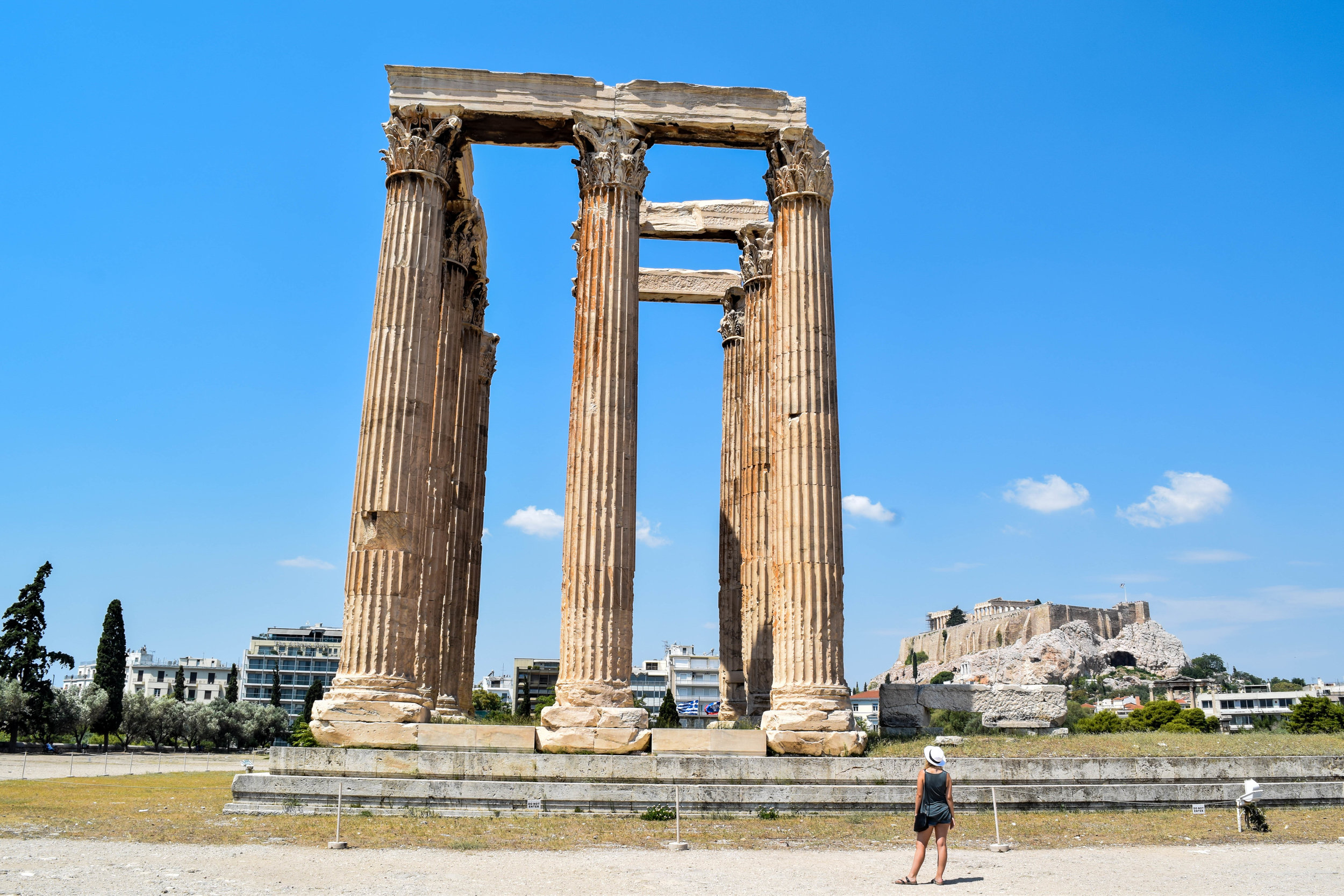 The Olympeion, aka the Temple of the Olympian Zeus.