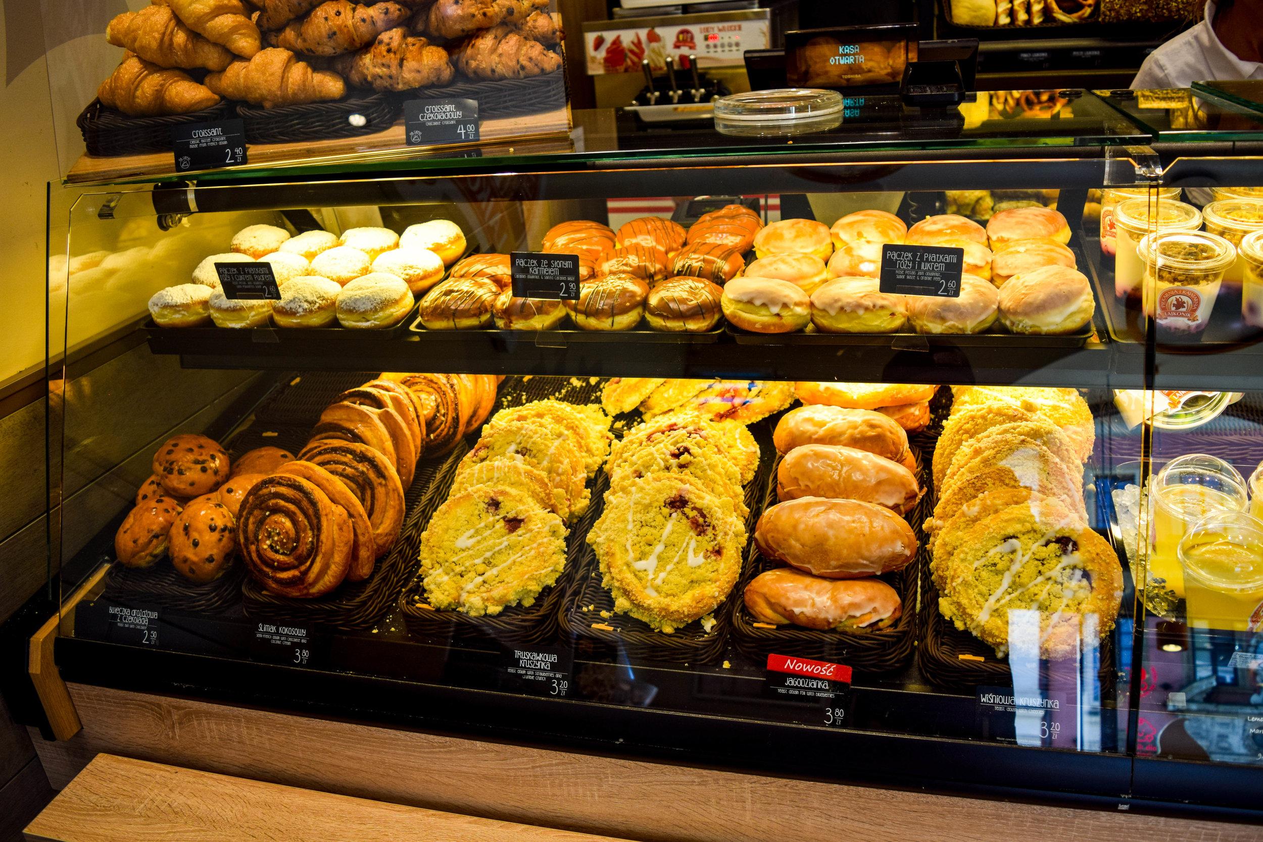 Selection of baked goods at Lajkonik