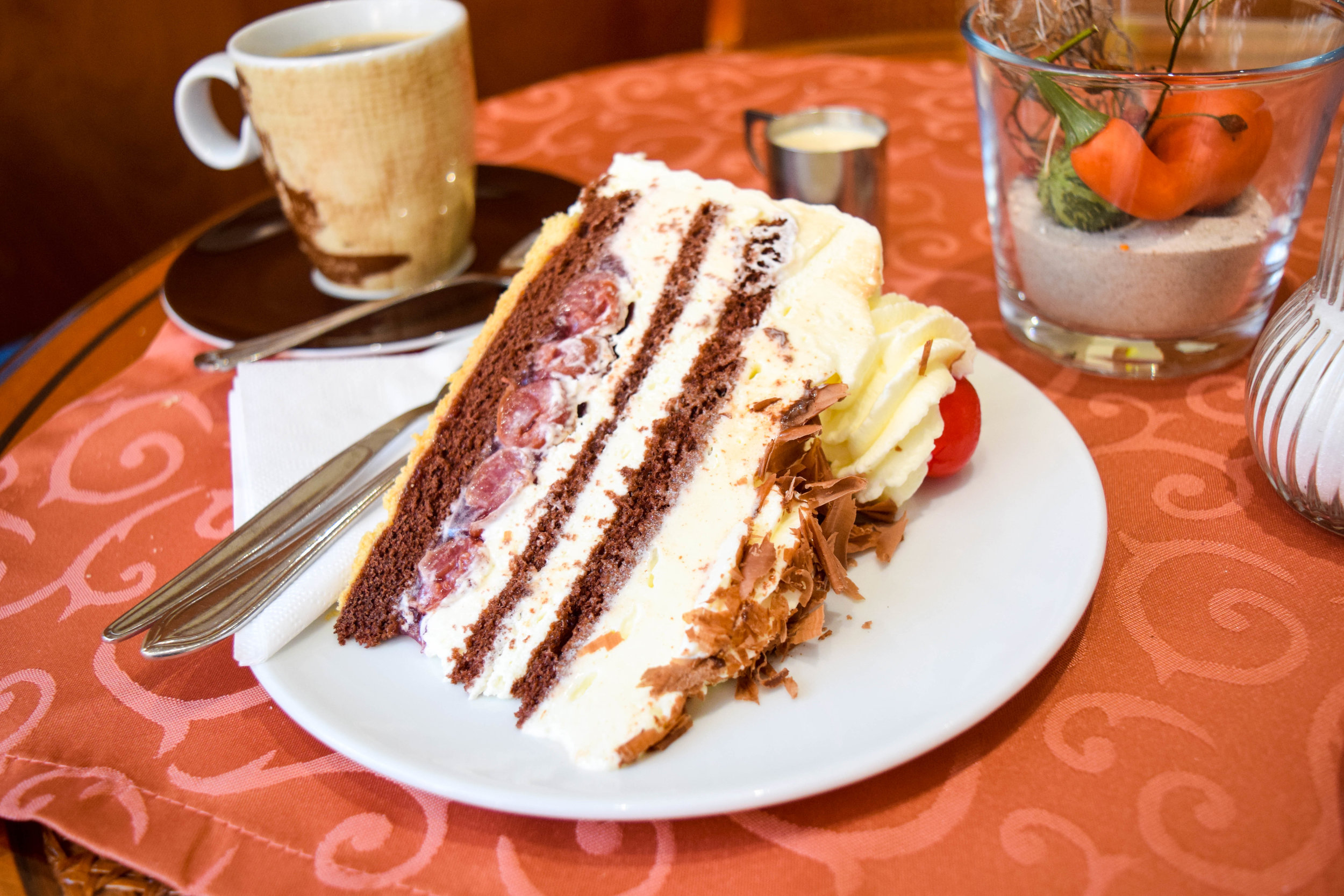 That's the good stuff: Black Forest cake.