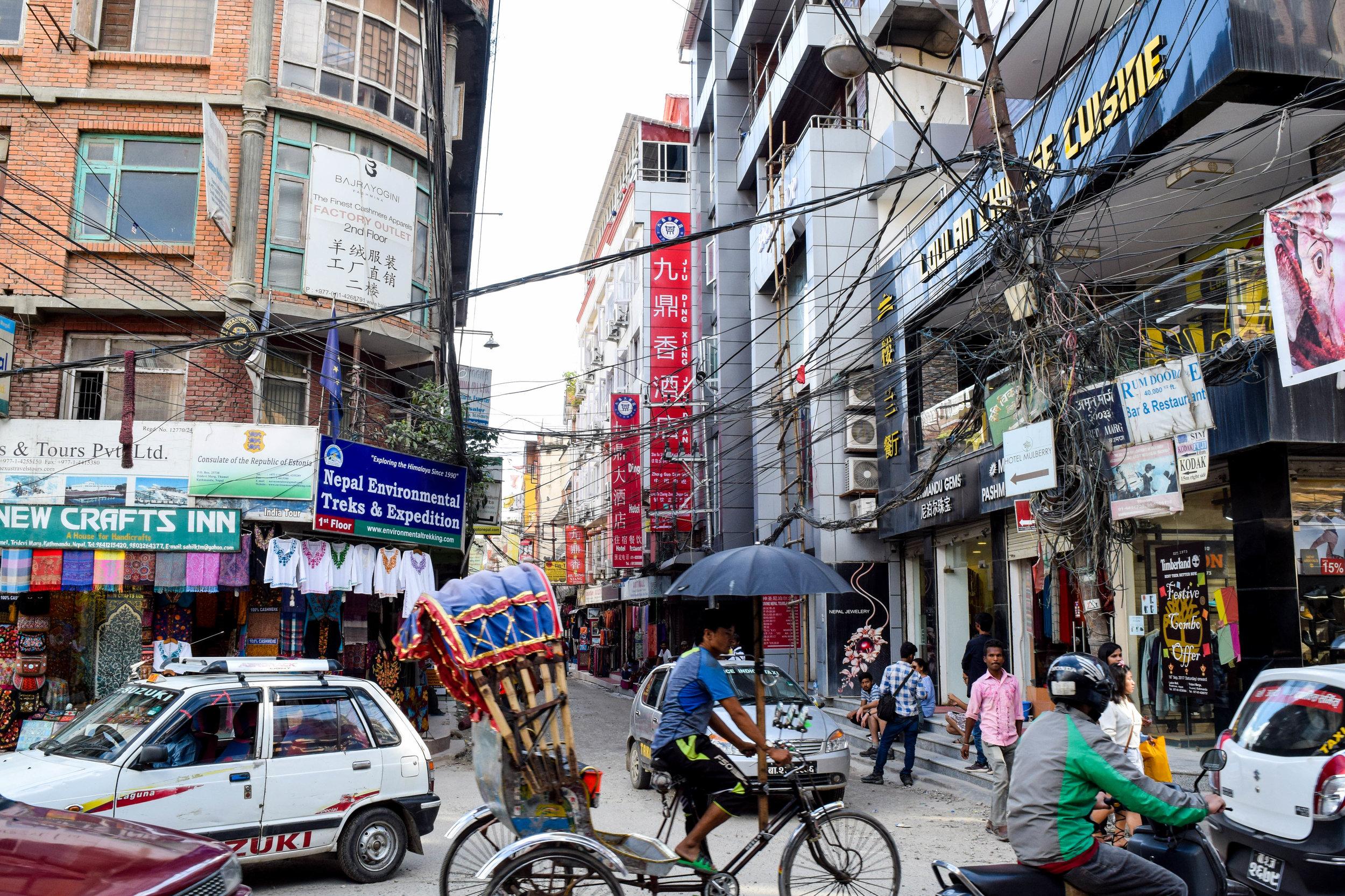 Ah, Kathmandu. So calm. So peaceful.