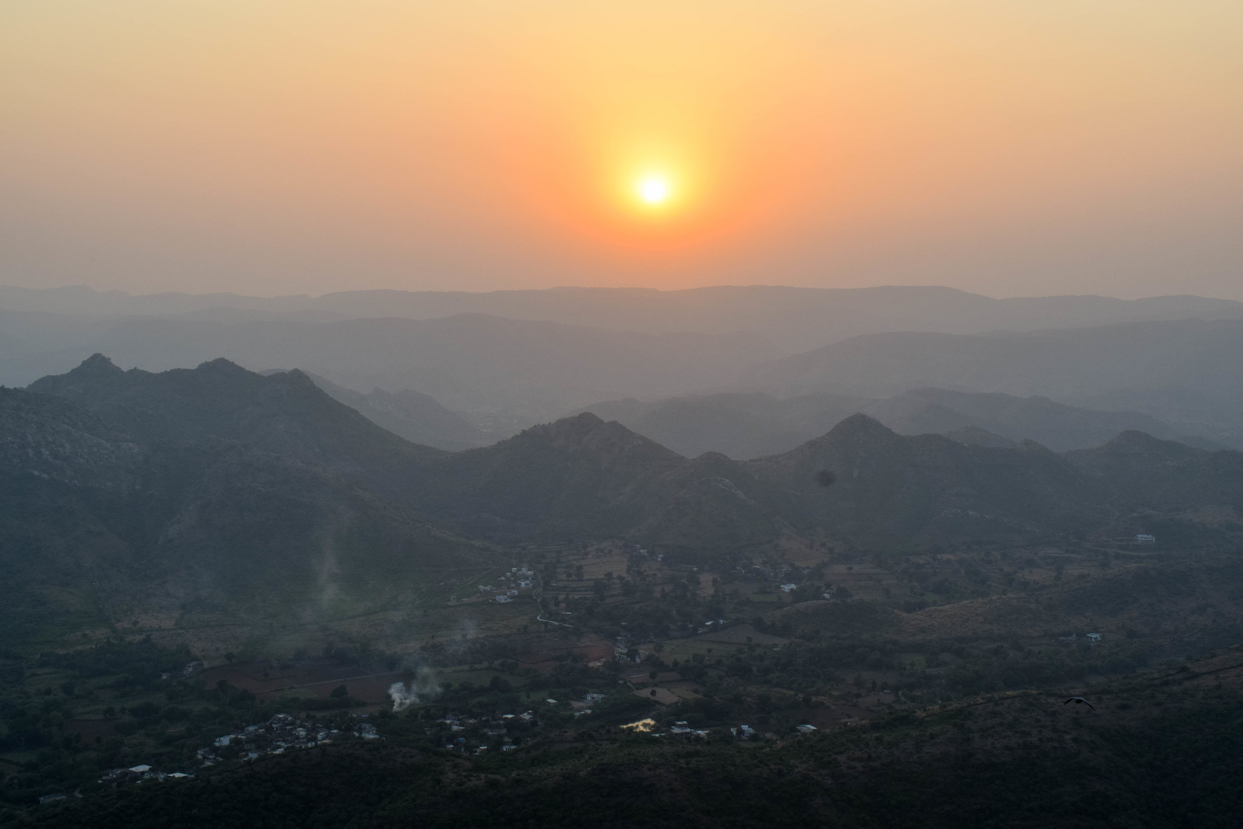 Sunset at the Monsoon Palace.