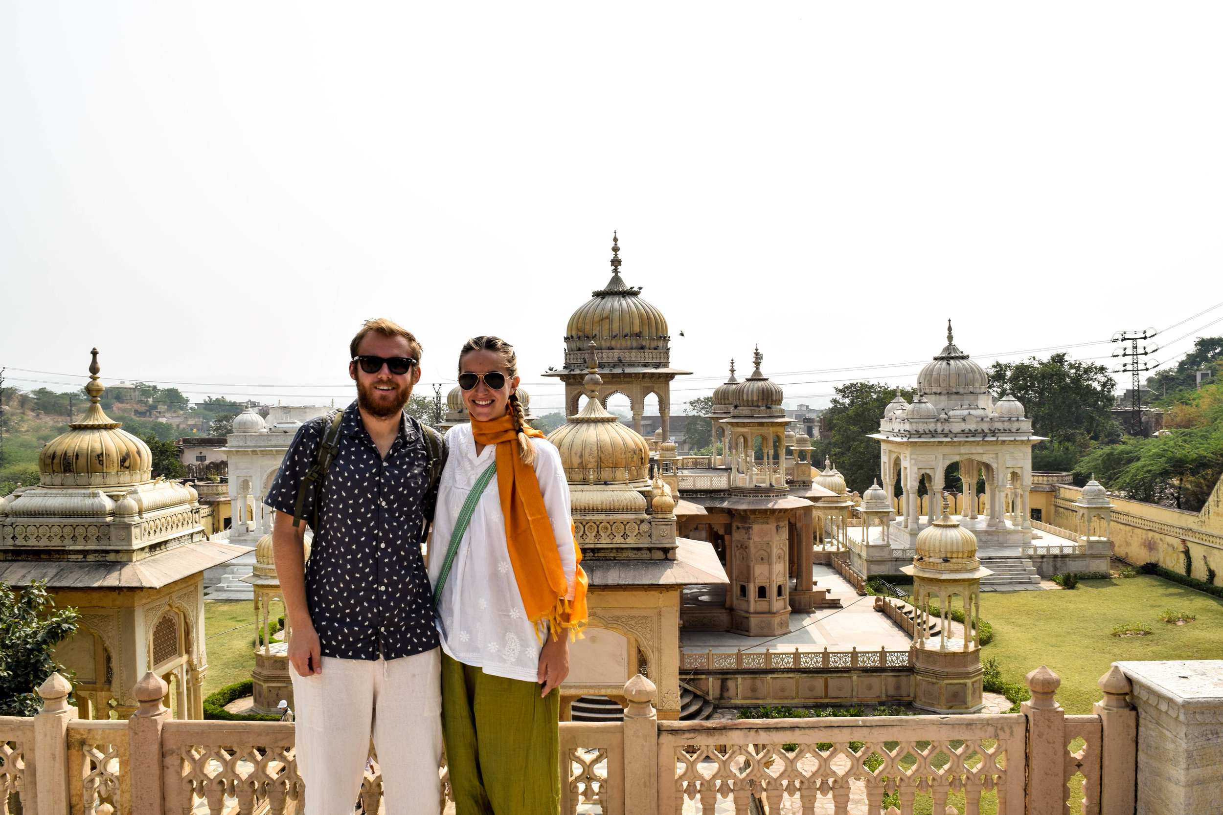 Rare pic of both of us together in front of the camera (at the Royal Gaitor cenotaphs).