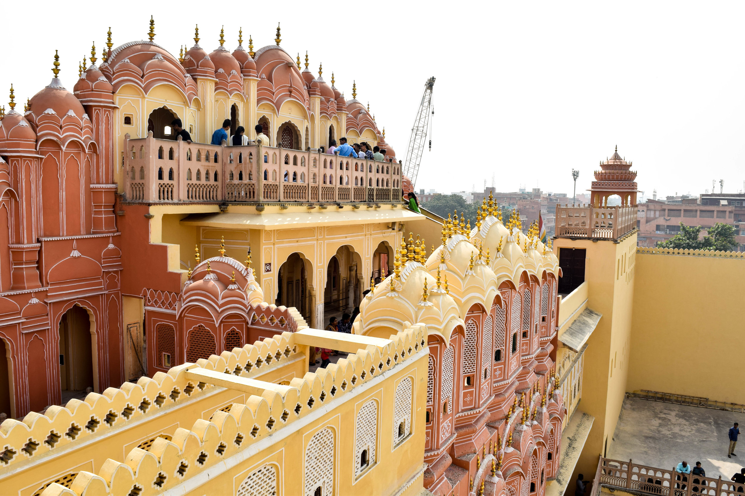 Back view of the Hawa Mahal. Not as cool as the front, but like, almost.