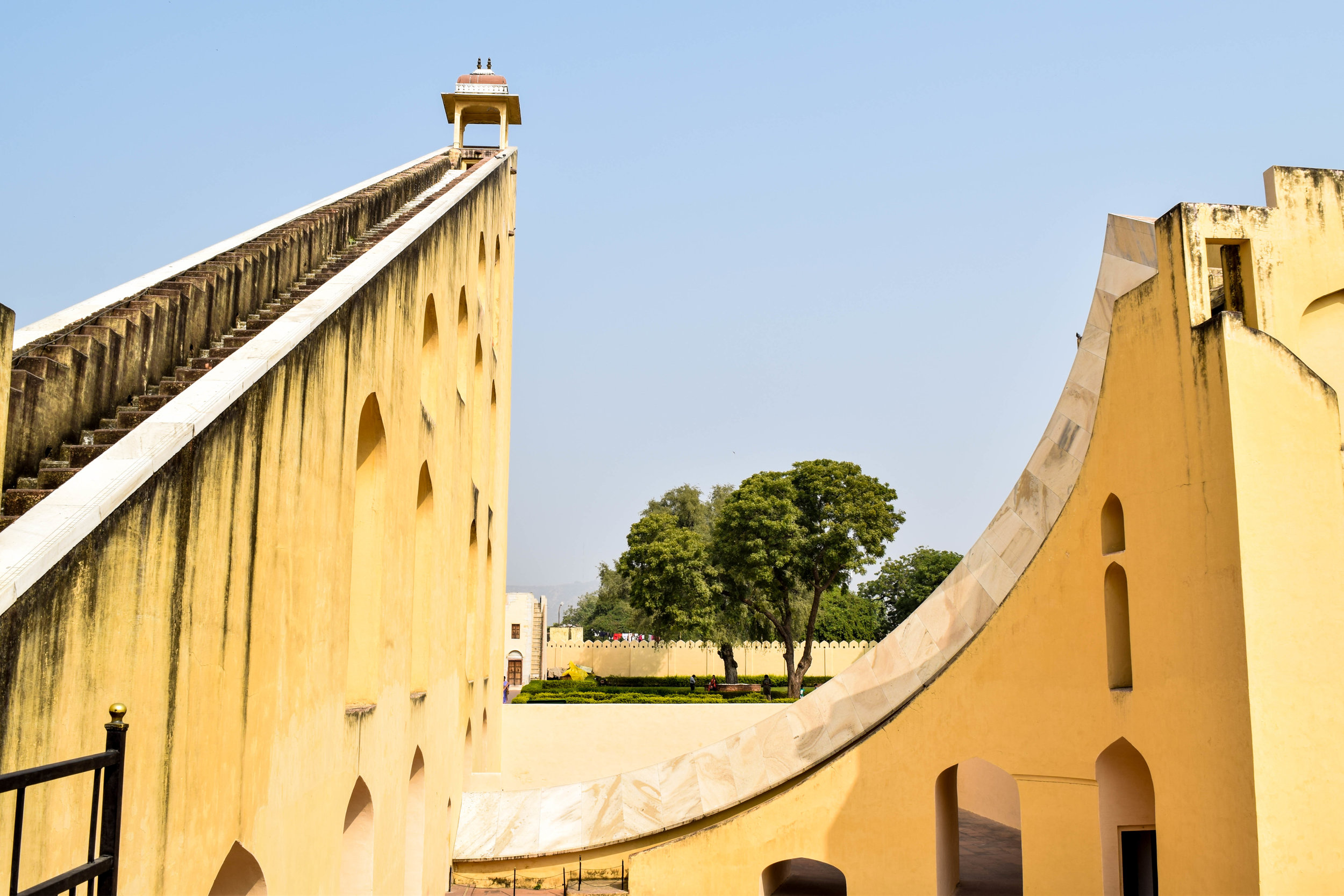 The sundial at Jantar Mantar. Just out of frame at the bottom was a dude trespassing inside the sundial and taking a KILLER selfie.