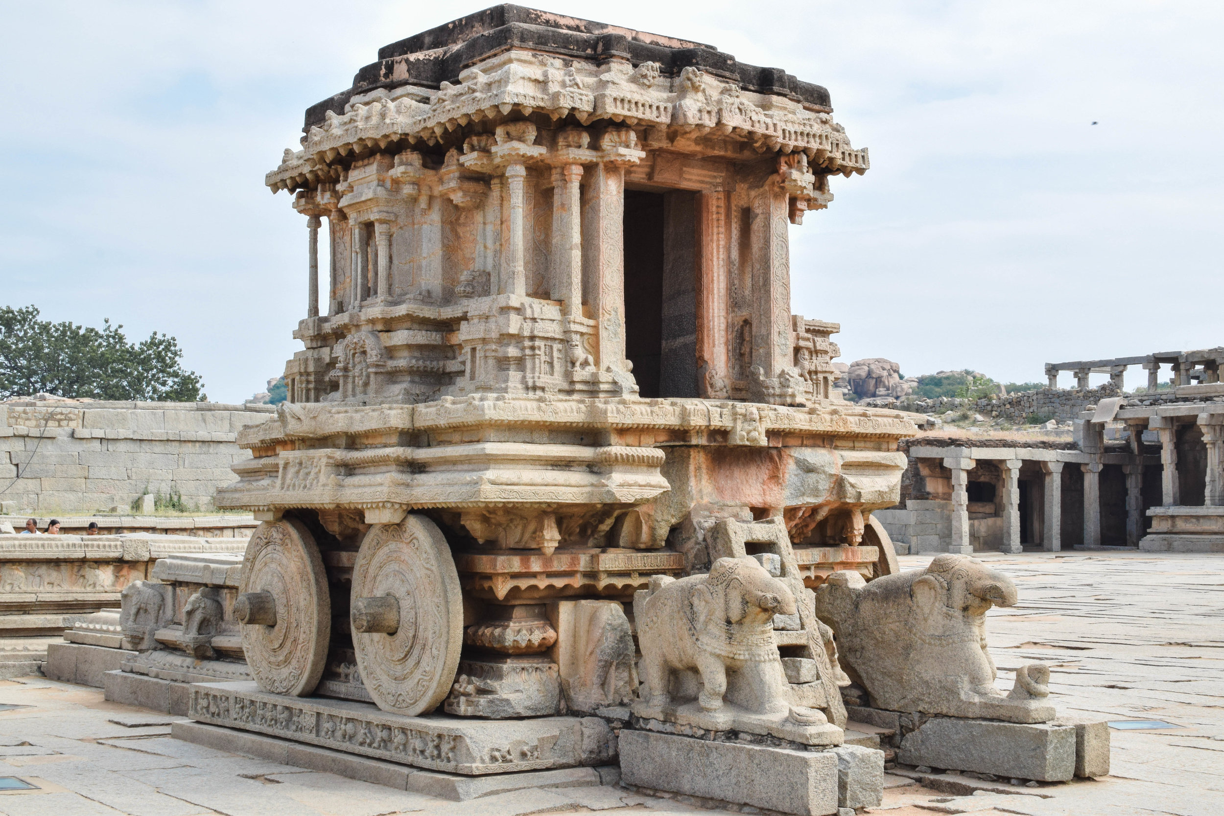 This chariot is definitely one of the most famous things in Hampi, and you can't tell from this angle but there were TONS of people around.