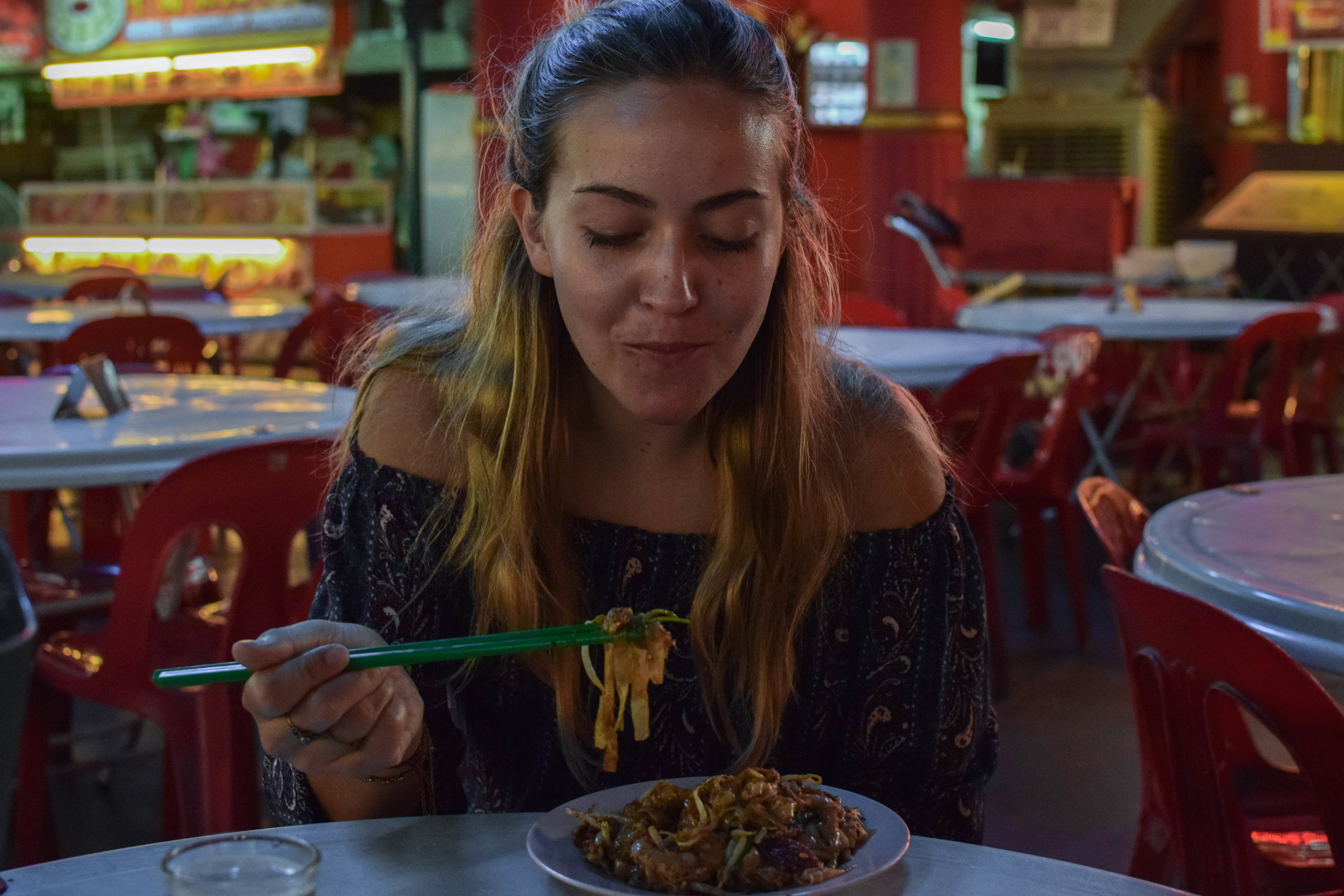 Just tryna eat my char kway teow.